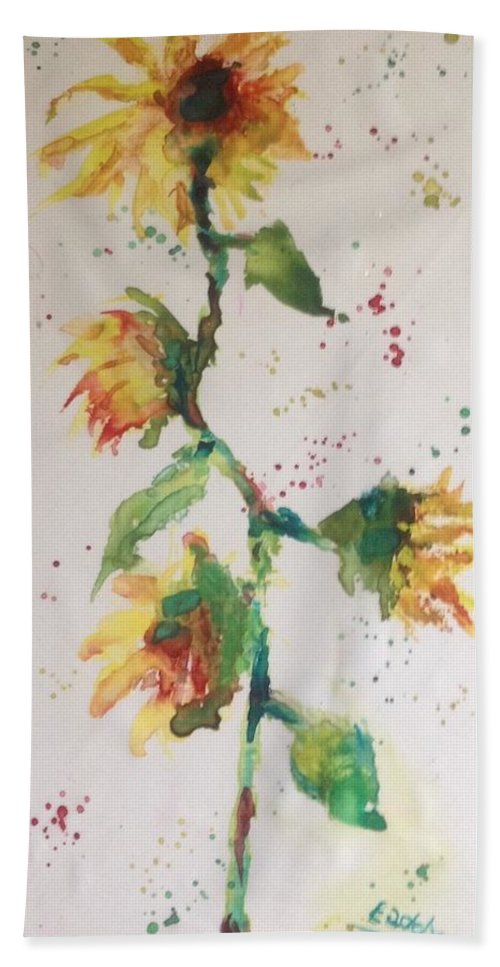 Bath Sheet featuring the painting Sunny by Morris Eaddy