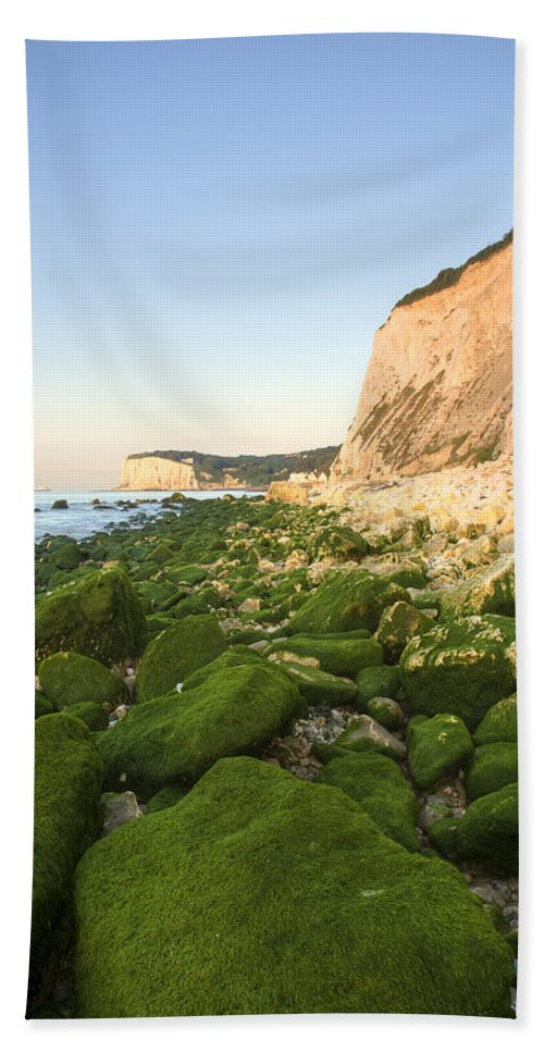 Dover Bath Sheet featuring the photograph Sunrise At The White Cliffs Of Dover by Ian Middleton