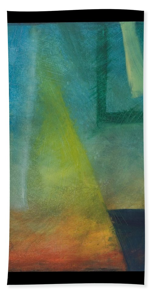 Sunset Bath Towel featuring the painting Sunset Sail by Tim Nyberg
