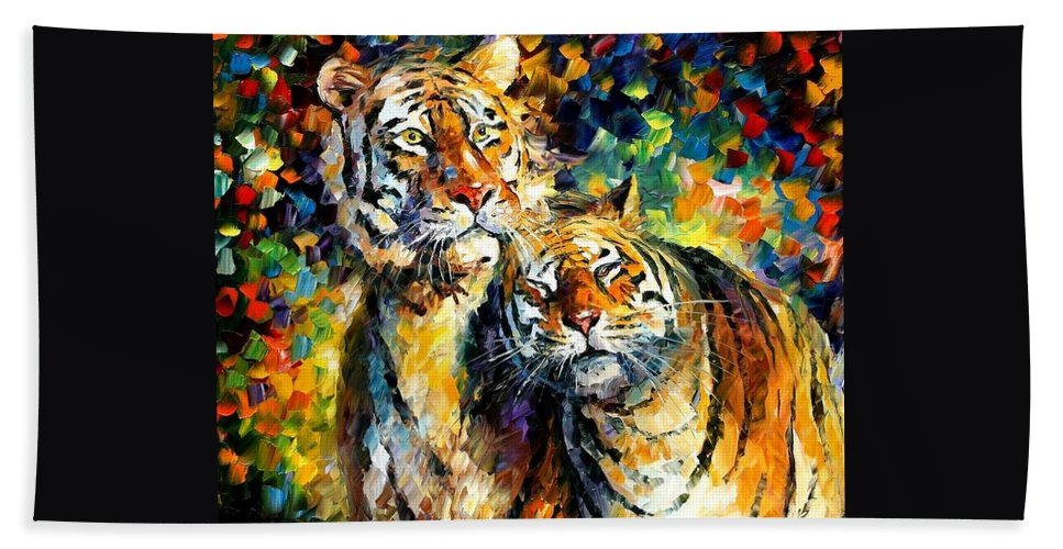 Afremov Hand Towel featuring the painting Sweetness by Leonid Afremov