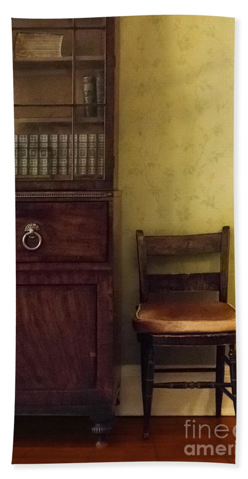 Chair Hand Towel featuring the photograph Take A Seat by Margie Hurwich