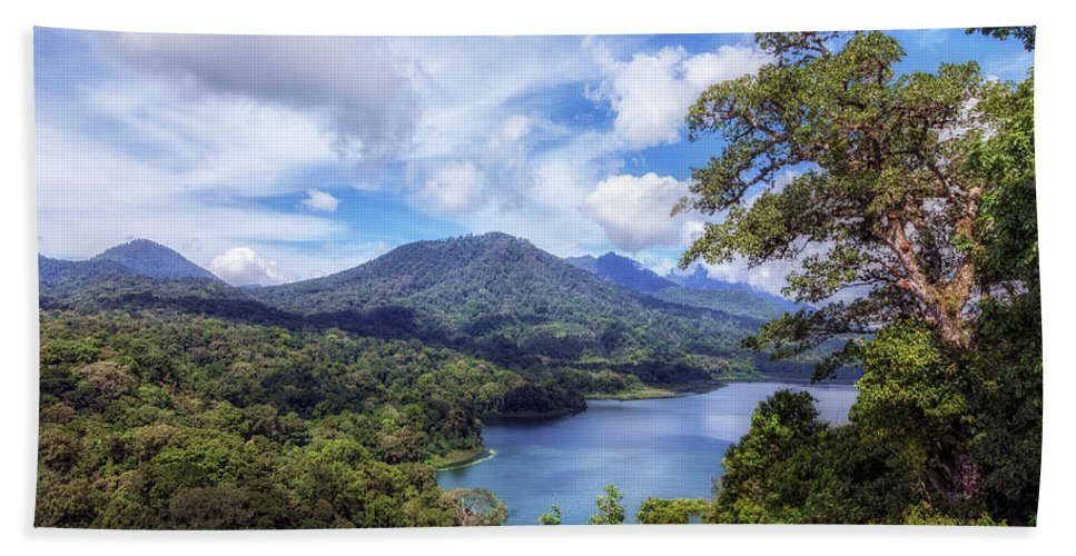 Lake Tamblingan Bath Sheet featuring the photograph Tamblingan Lake - Bali by Joana Kruse