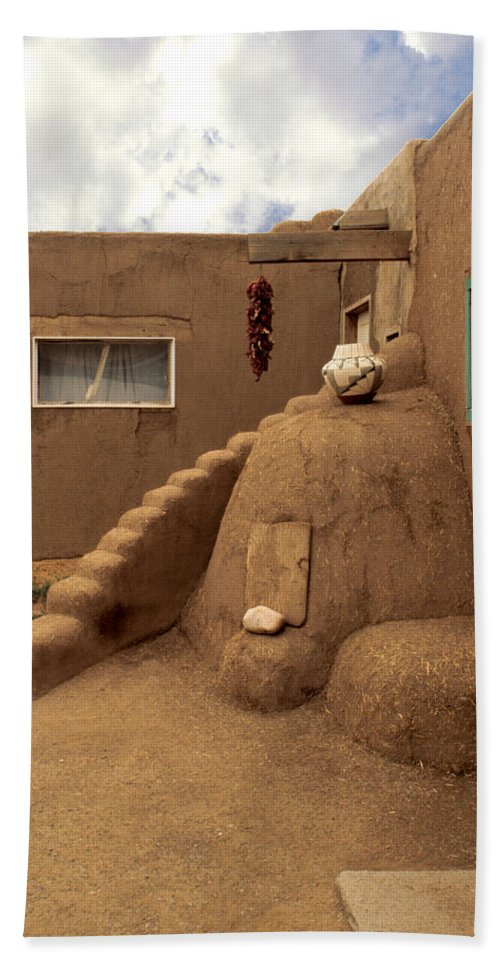 Taos Bath Sheet featuring the photograph Taos Pueblo by Jerry McElroy