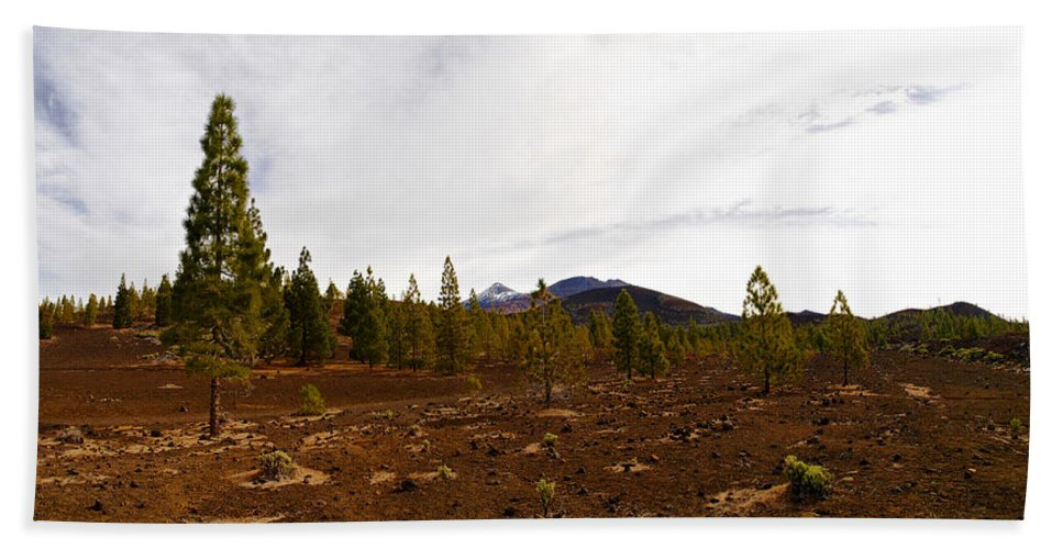 Landscape Hand Towel featuring the photograph Teide Nr 11 by Jouko Lehto