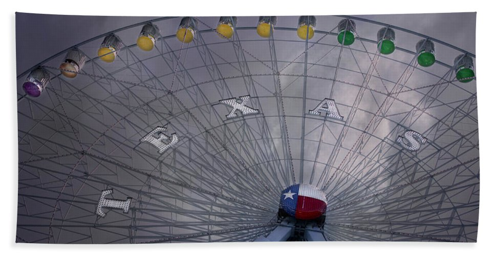Carnival Bath Sheet featuring the photograph Texas Star by David and Carol Kelly