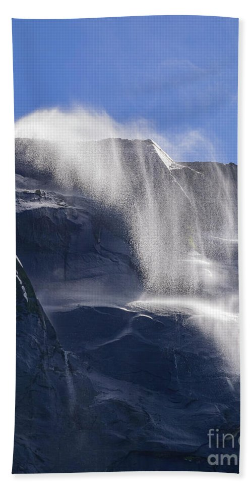Nps Hand Towel featuring the photograph The Beautiful Bridalveil Falls Of Yosemite by Chon Kit Leong
