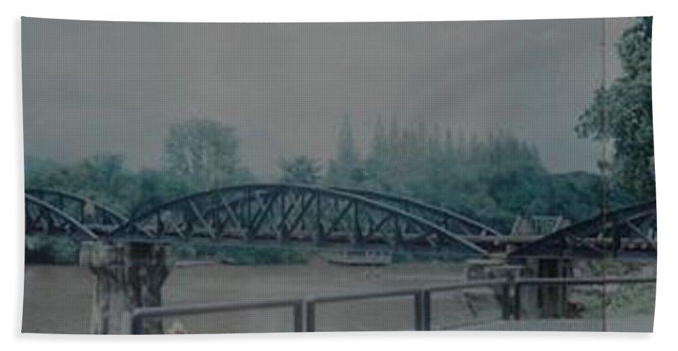 Bridge Bath Sheet featuring the photograph The Bridge On The River Kwai by Rob Hans