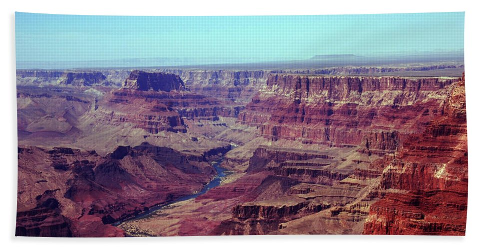 Grand Canyon Bath Sheet featuring the photograph The Colorado River by Susanne Van Hulst