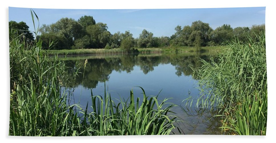 Cotswold Bath Sheet featuring the photograph The Cotswold Water Park by Patrick Wise