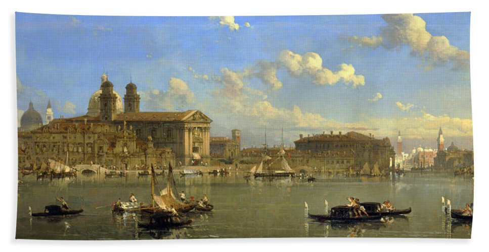 David Roberts Bath Sheet featuring the painting The Giudecca. Venice by David Roberts