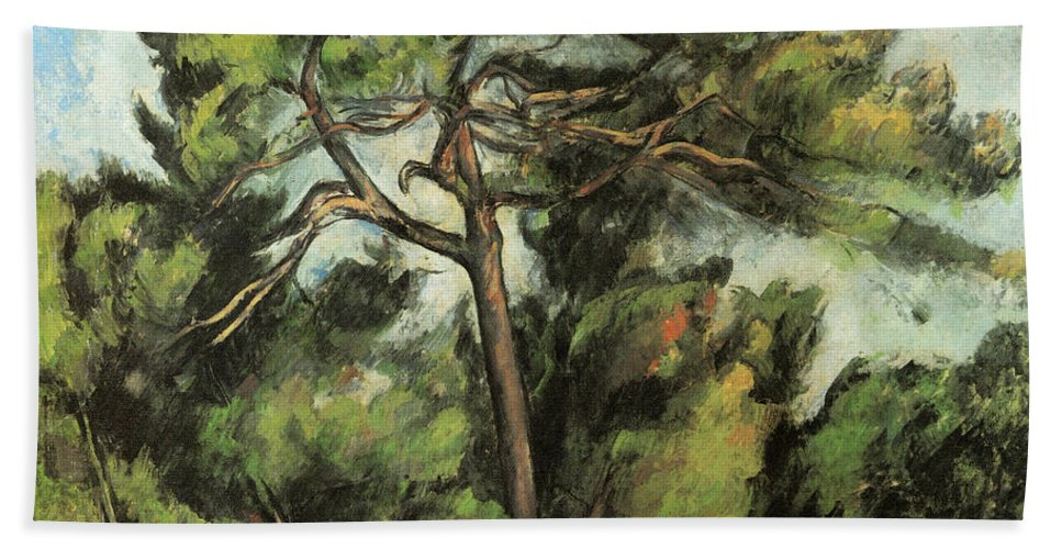 Europe Hand Towel featuring the painting The Large Pine by Paul Cezanne
