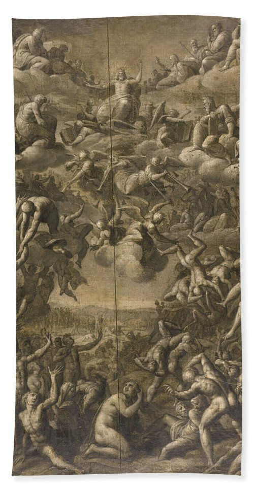 Jacob De Backer Bath Sheet featuring the painting The Last Judgment by Jacob de Backer