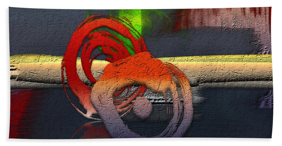 Abstracts Plus By Serge Averbukh Bath Towel featuring the photograph The Night is Young by Serge Averbukh
