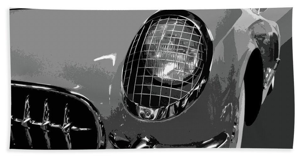Autos Hand Towel featuring the photograph The Original Vette by Dick Goodman