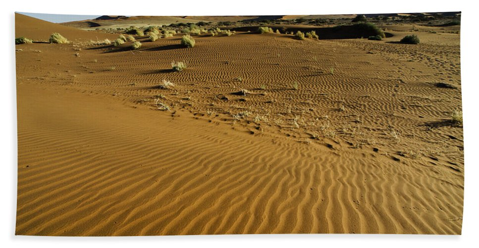 Africa Hand Towel featuring the photograph The Sands Of Sossusvlei by Michele Burgess