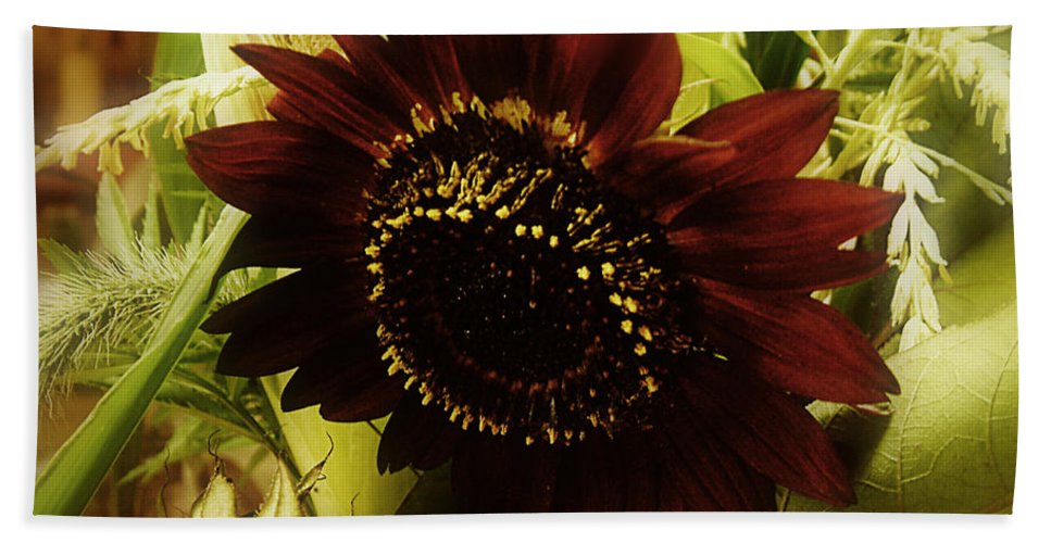 Sunflower Bath Sheet featuring the photograph The Softness Of Autumn by RC DeWinter