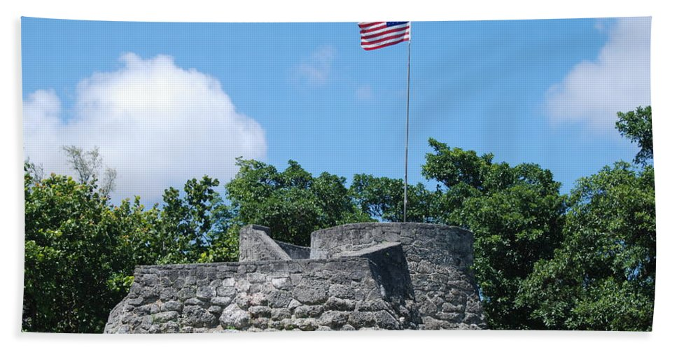 American Flag Hand Towel featuring the photograph The Stand by Rob Hans