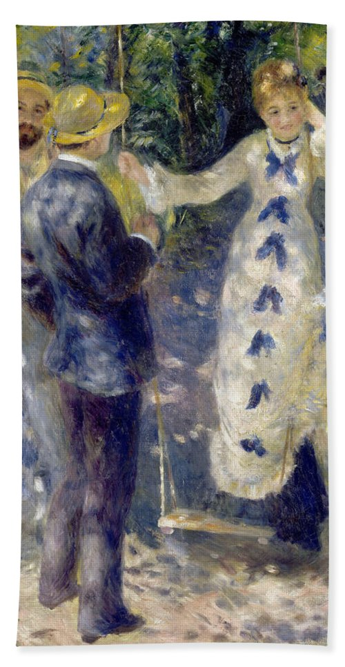 Child Hand Towel featuring the painting The Swing by Pierre-Auguste Renoir