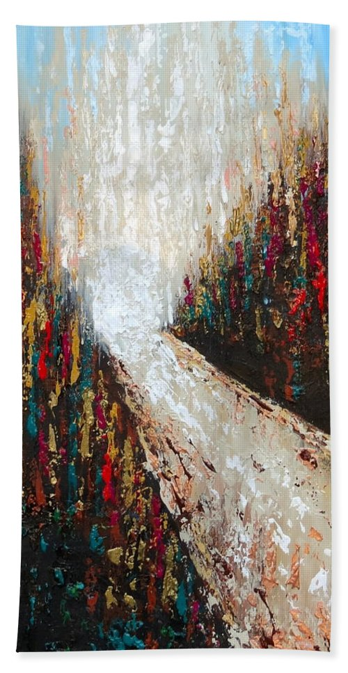 Original Hand Towel featuring the painting Through The Storm by Daniela Pasqualini