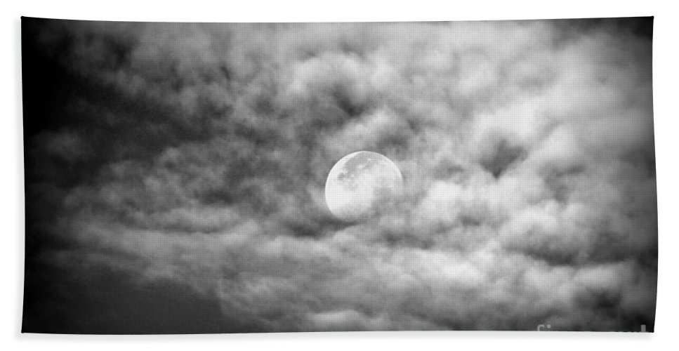 Moon Hand Towel featuring the photograph Moonglow by Jaunine Roberts