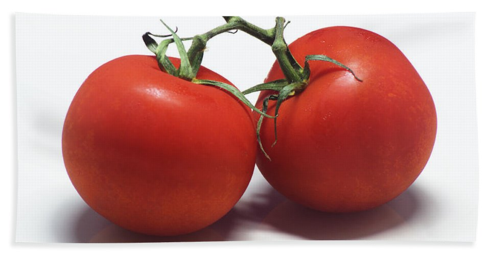 Tomato Bath Sheet featuring the photograph Tomatoes by Chris Day