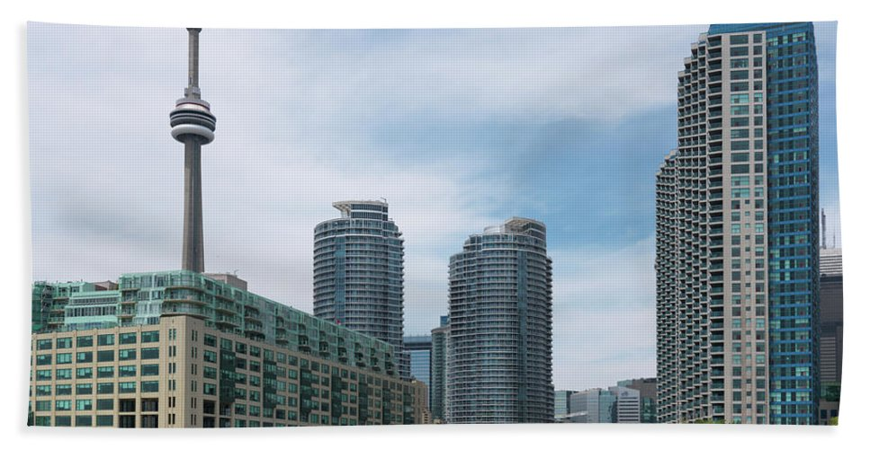 Toronto Bath Sheet featuring the photograph Toronto Harbourfront by Oleksiy Maksymenko