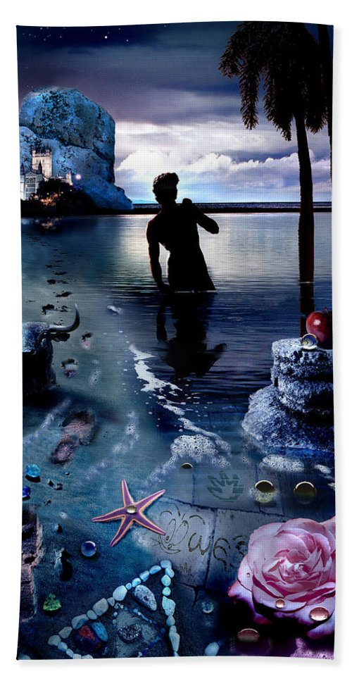 Treasure Bath Towel featuring the photograph Treasure Island by Mal Bray