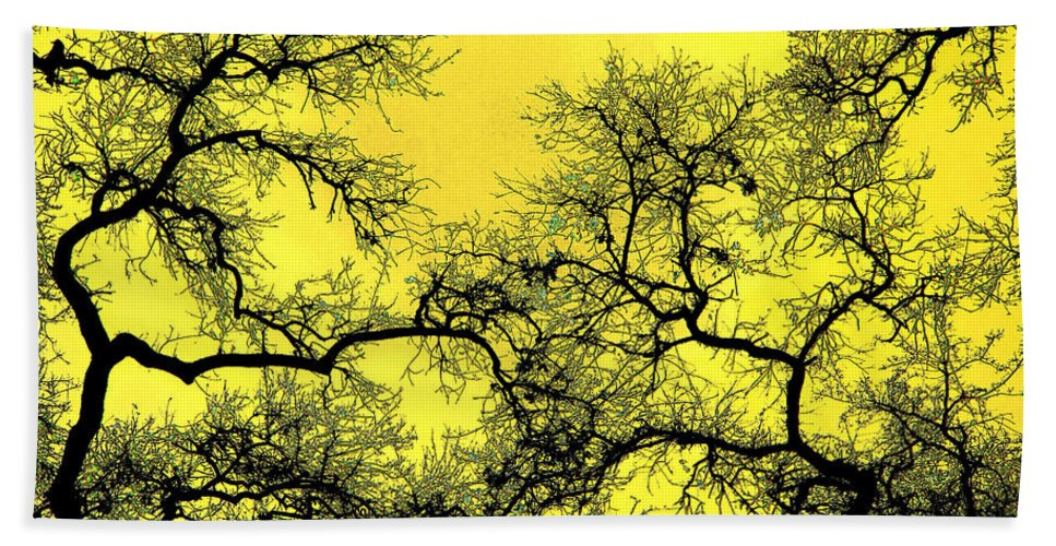 Digital Art Hand Towel featuring the photograph Tree Fantasy 18 by Lee Santa