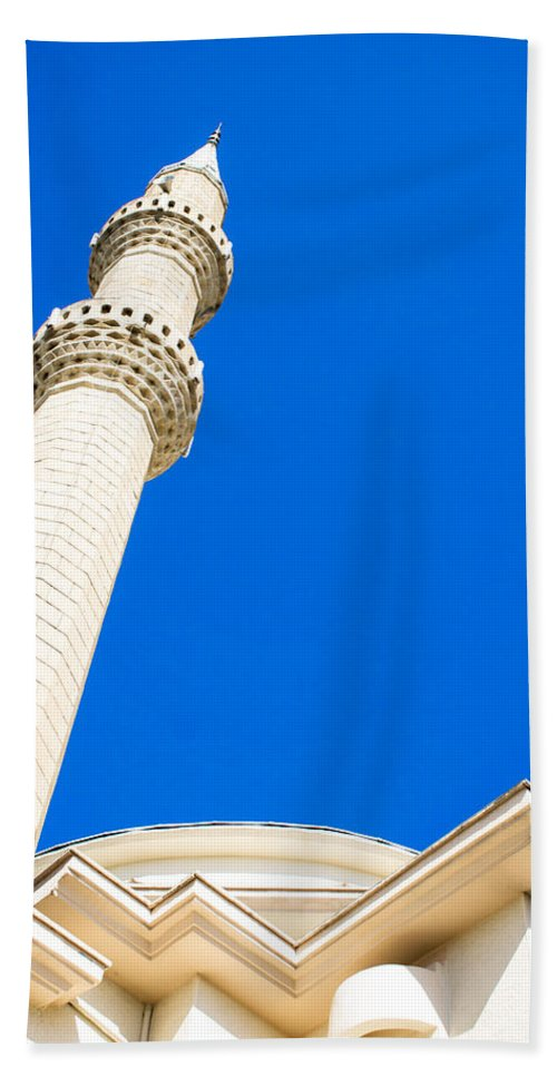 Adhan Bath Sheet featuring the photograph Turkish Mosque by Tom Gowanlock