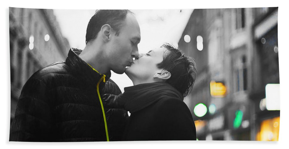 Engagement Hand Towel featuring the photograph Ula And Wojtek Engagement 8 by Alex Art and Photo