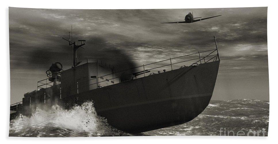 War Bath Sheet featuring the digital art Under Attack by Richard Rizzo