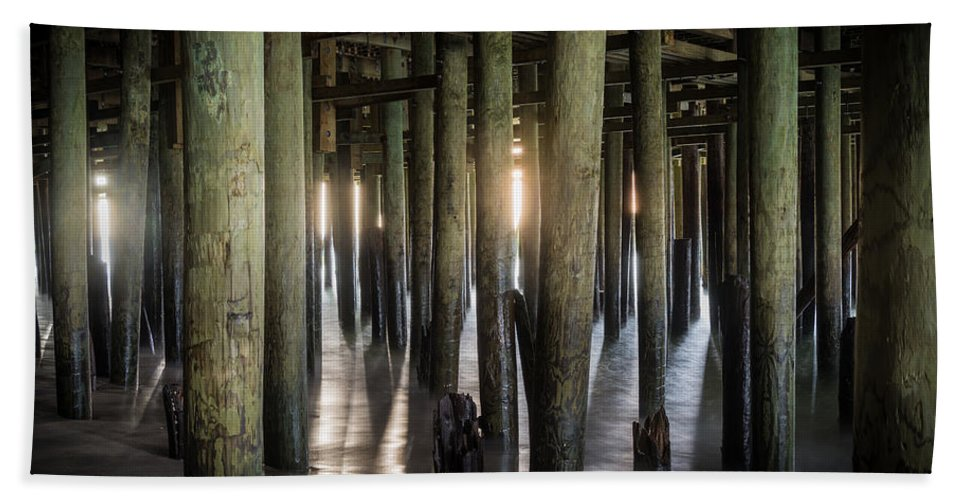 New Jersey Hand Towel featuring the photograph Under The Boardwalk by Kristopher Schoenleber