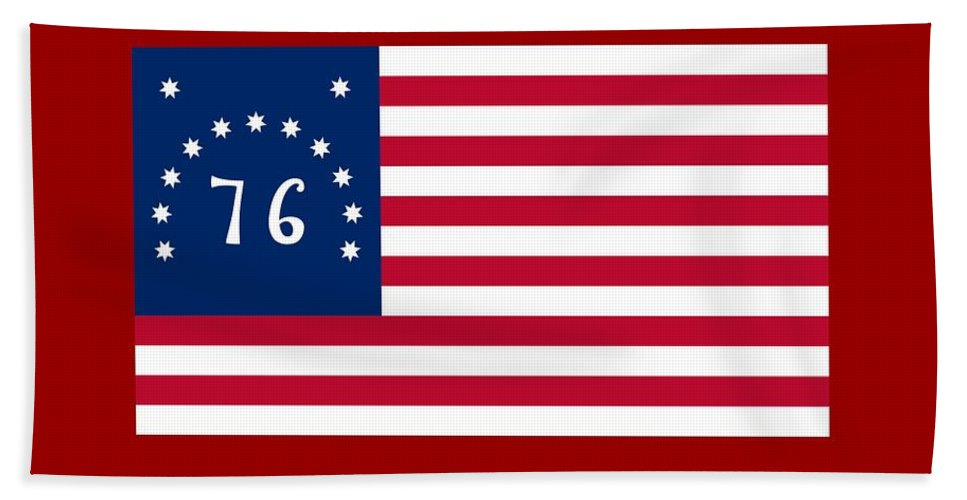 Banner Hand Towel featuring the digital art United States Flag by Frederick Holiday