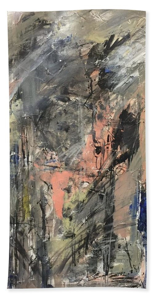 Acrylic Hand Towel featuring the painting Untitled by Elham Ghorbani