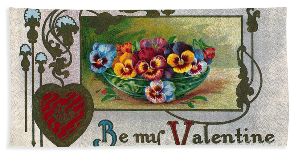 1913 Hand Towel featuring the photograph Valentines Day Card by Granger