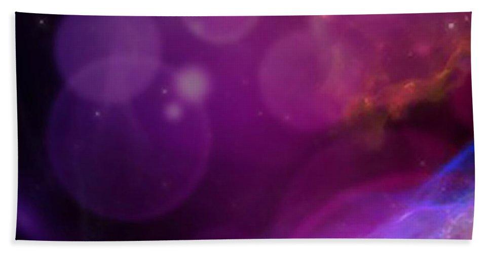 Spiritual Hand Towel featuring the digital art Veil by Rachel Fowler-keene