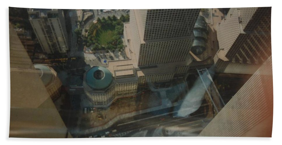 Wtc Bath Towel featuring the photograph View From The W T C by Rob Hans