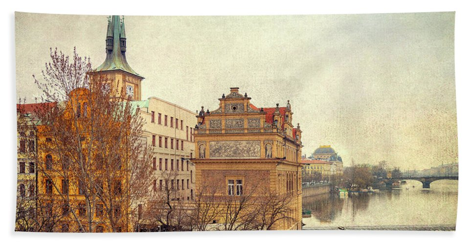 City Hand Towel featuring the photograph View On A River by Svetlana Sewell