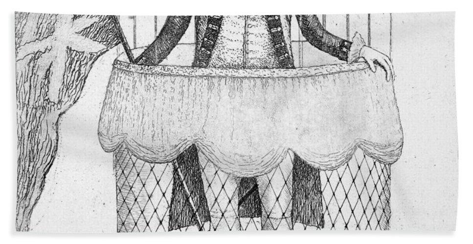 1785 Bath Sheet featuring the photograph Vincenzo Lunardi by Granger