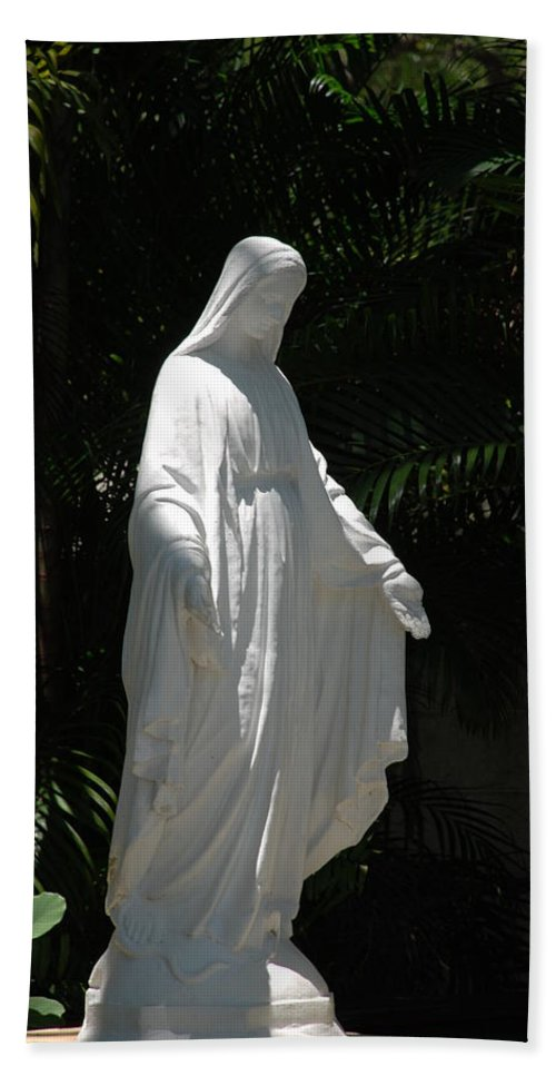 Florida Hand Towel featuring the photograph Virgin Mary by Rob Hans