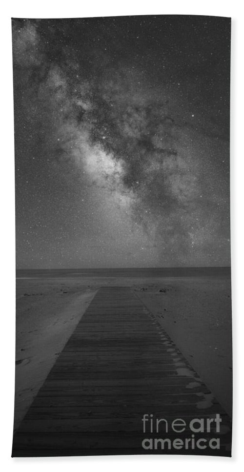 Walkway To The Universe Hand Towel featuring the photograph Walkway To The Universe by Michael Ver Sprill