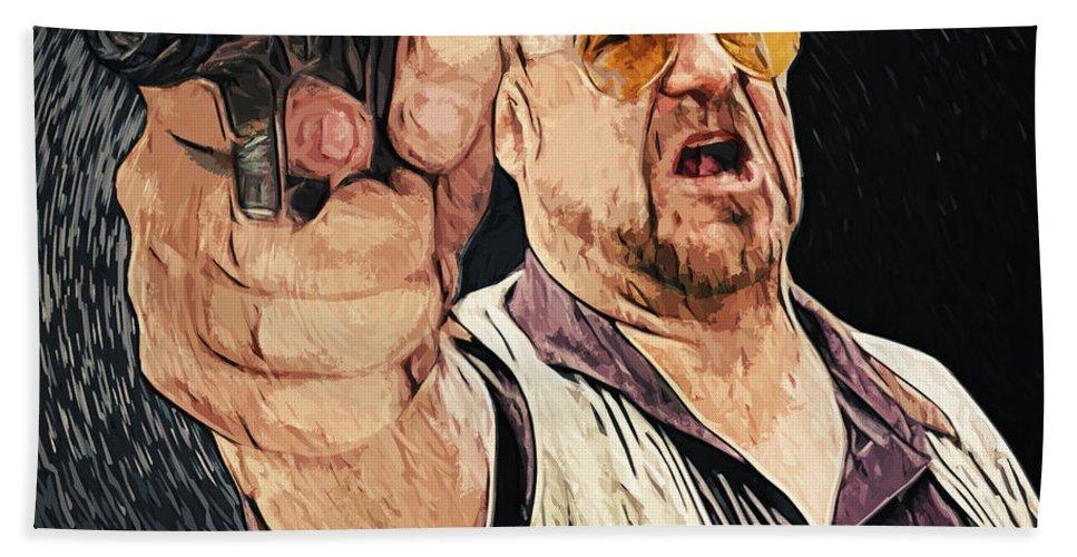 Walter Sobchak Bath Towel featuring the digital art Walter Sobchak by Zapista Zapista