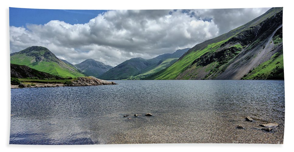 Wastwater Bath Towel featuring the photograph Wastwater by Smart Aviation