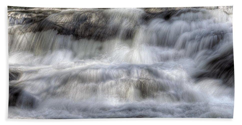 America Bath Sheet featuring the photograph Waterfall by Svetlana Sewell