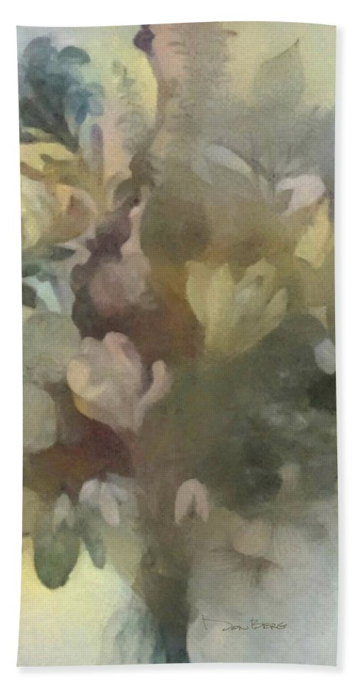 Flowers Hand Towel featuring the digital art Whispering Bouquet 1 by Don Berg