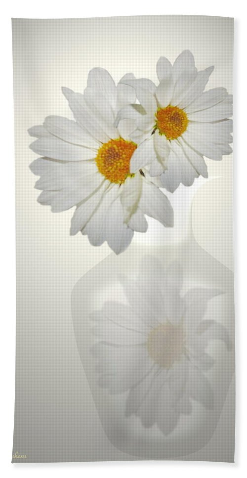 Daisies Bath Sheet featuring the photograph White On White Daisies by Joyce Dickens