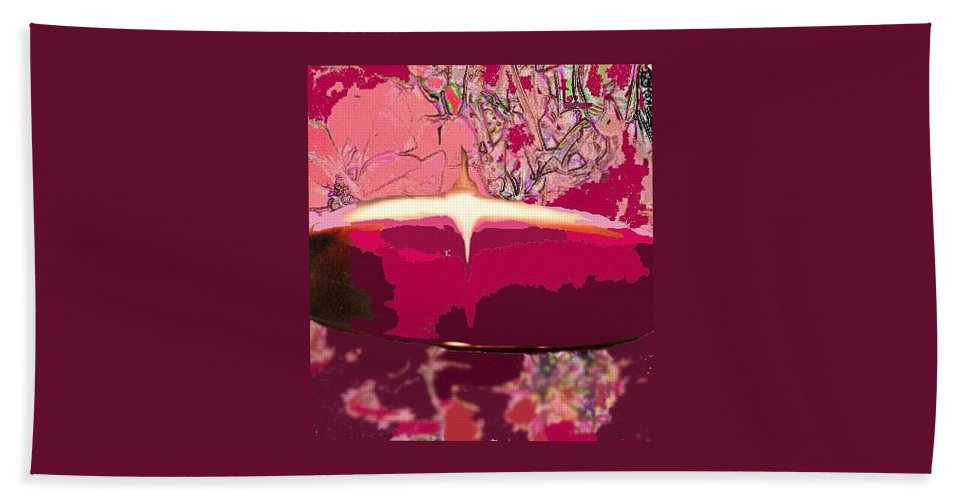 Wine Hand Towel featuring the photograph Wine And Roses by Ian MacDonald