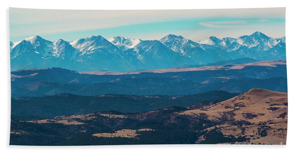 Sangre De Cristo Hand Towel featuring the photograph Winter Sangre De Cristo Mountains by Steve Krull
