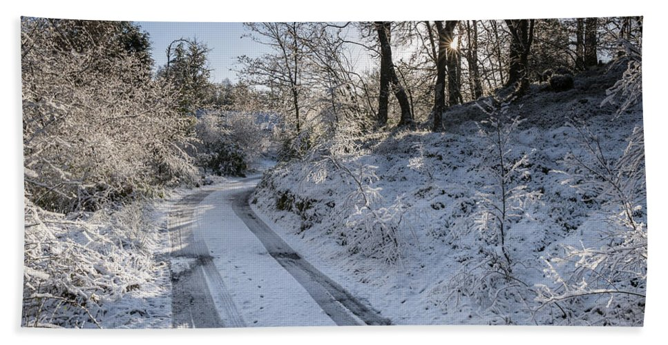 Countryside Hand Towel featuring the photograph Winter Wonderland In Central Scotland by Jeremy Lavender Photography