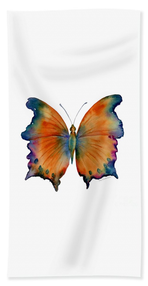 Wizard Butterfly Bath Towel featuring the painting 1 Wizard Butterfly by Amy Kirkpatrick